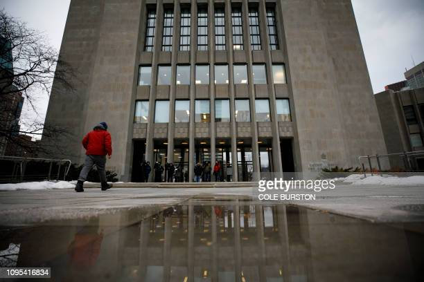 People enter the Toronto Courthouse on February 8 in Toronto Canada Serial killer Bruce McArthur will be sentenced after pleading guilty to the...