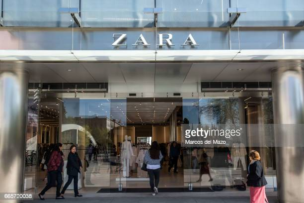 People entering to the world's biggest Zara during the opening day The store has 6000 square meters