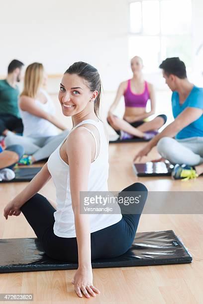 Menschen Training im Fitness-Center