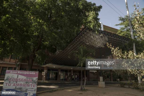 People exit the main entrance of the Luis Razetti University Hospital in Barcelona Venezuela on Friday Aug 25 2017 The ruling party'slandslide...