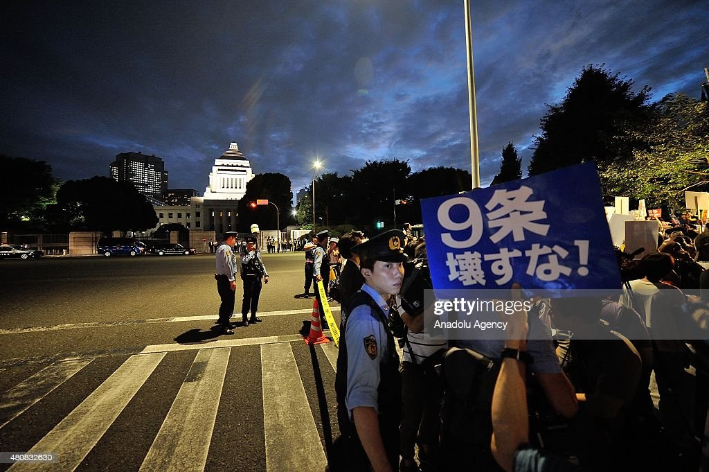 Protest against Japan Security Bill in Tokyo : ニュース写真
