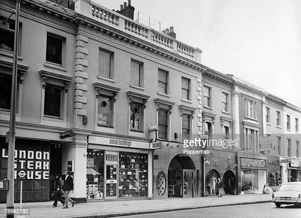 circa 1968 Shops in the fashionable Kings Road Chelsea London