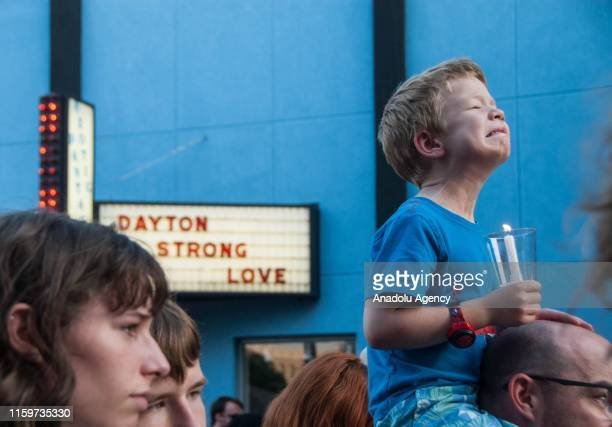 People fill the streets during a vigil after a shooting in the Oregon District of Dayton Ohio USA 04 August 2019 At least 10 people were reportedly...
