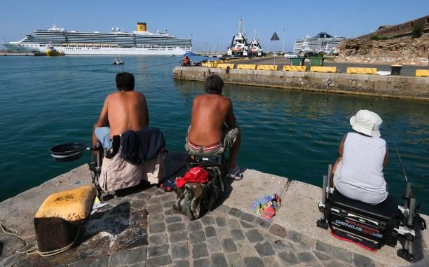 ITA: Cruise Ships Parked In Civitavecchia