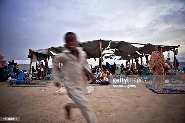N'DJAMENA CHAD JUNE 13 People fled Bangui Libya Sudan Niger and other countries due to the clashes live at Gaoui refugee camp hosting 7000 people 12...