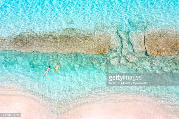 people floating in the caribbean sea, antilles - barbados stock pictures, royalty-free photos & images