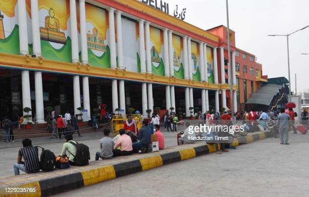 People flout Covid 19 rules at New Delhi Railway Station, on October 22, 2020 in New Delhi, India.