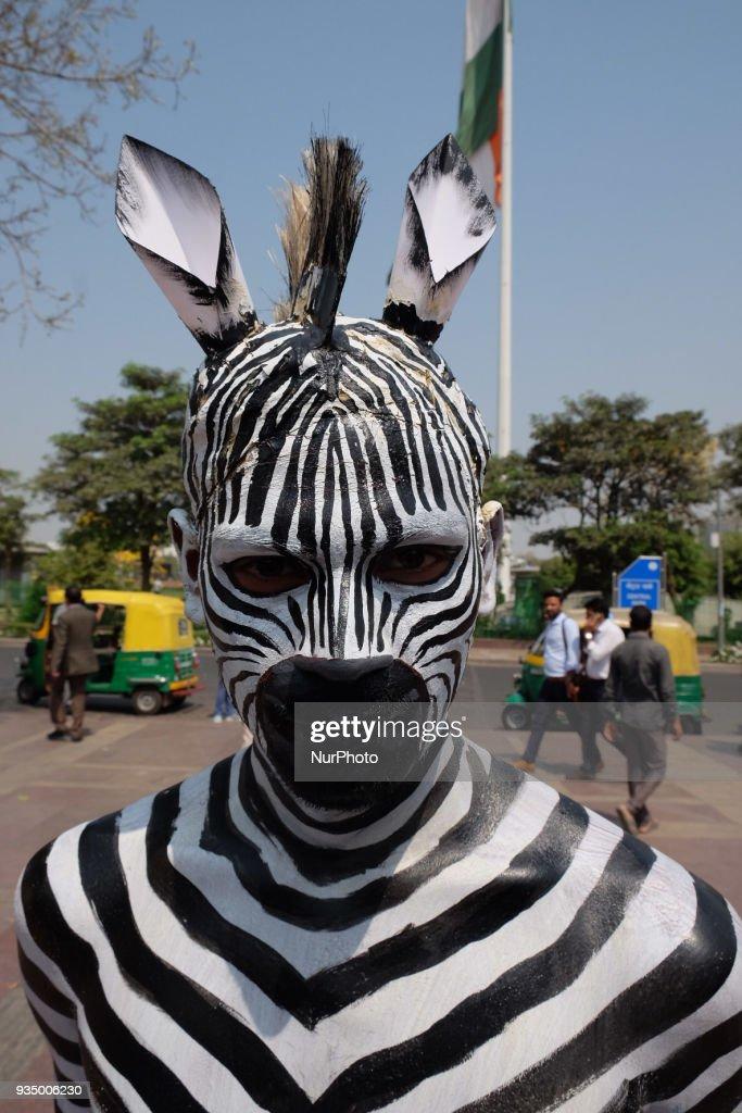 PETA Campaign in New Delhi : News Photo
