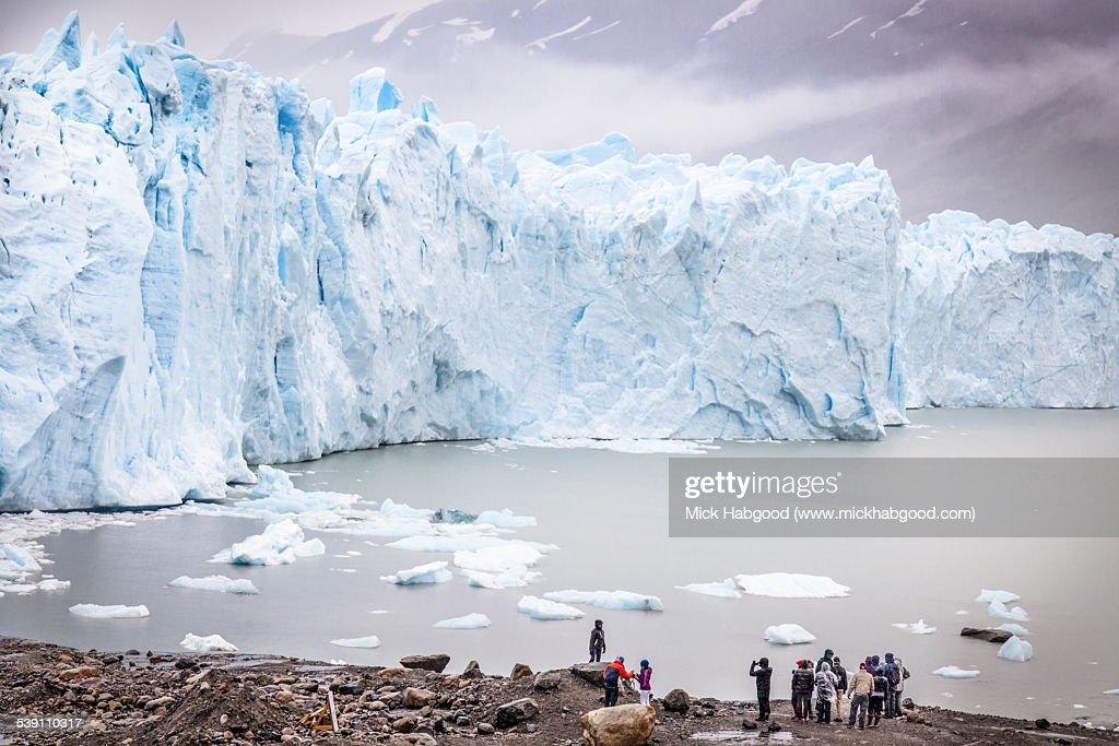 People foreground at Perito Merino Glacier : Stock Photo