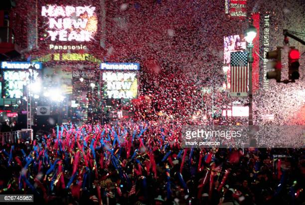 People from all over come to the Times Square New Year's Eve Celebration Photo by Mark Peterson/Corbis SABA