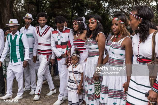 People from community of Oromo from different parts of Ethiopia celebrate Irreecha Afaan Oromo also called Irreessa a Thanksgiving holiday of the...