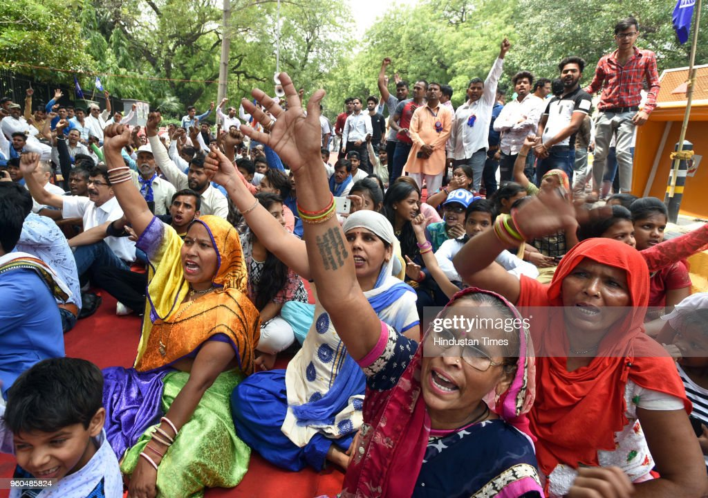 Dalit And Tribal Community Protest Against Atrocities And Demand For Justice At Parliament Street