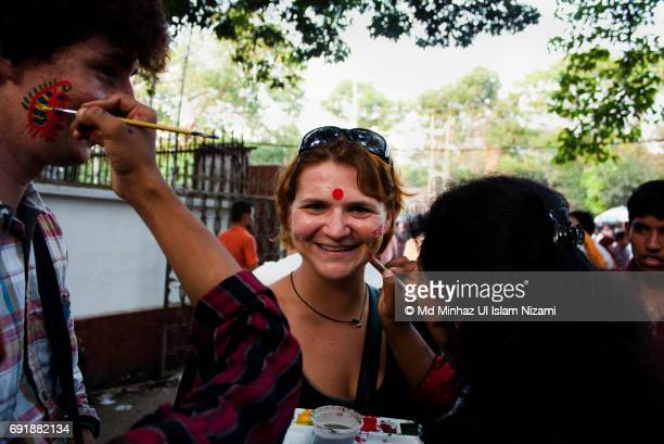 People from different countries celebrating Bangla New Year