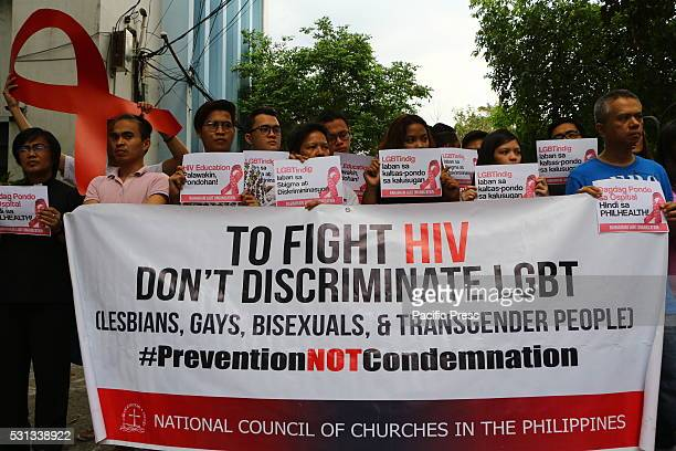 People from Living with HIV/AIDS , Lesbian, Gay, Bisexual & Transgender, , urban poor, migrant and church groups gather and join the Philippine...