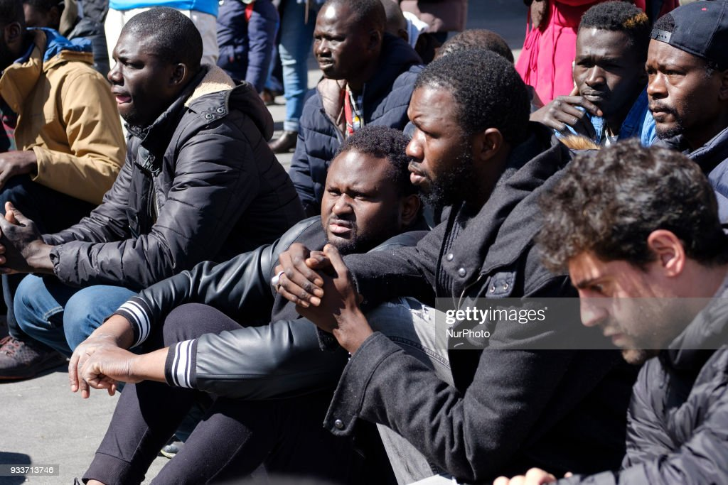 Senegalese protest in memory Mmame Mbage