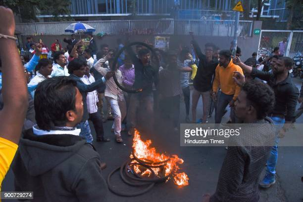 People from various parties organised a meeting on the backdrop of Koregaon violence at Ambedkar Statue near Pune Station after the clashes between...