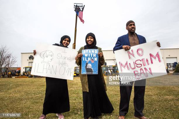 People gather as the Minnesota chapter of the Council on AmericanIslamic Relations joins a coalition of community organizations in support of...