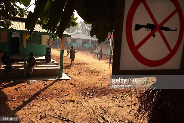 People gather at a hospital December 17 2007 in Kabo in the northern Central African Republic Central African Republic is one of the worlds poorest...