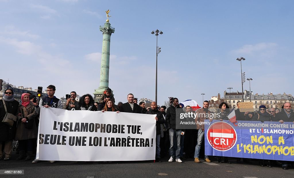 Rally in Paris against Islamophobia : Nieuwsfoto's