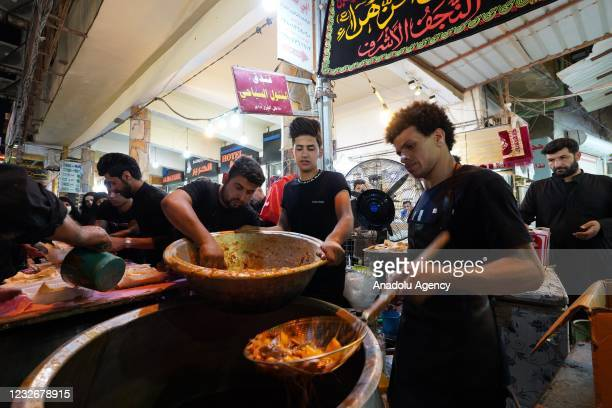 People gather at Imam Ali Holy Shrine for a commemoration ceremony for the 1360th death anniversary of Imam Ali ibn Abi Talib, cousin of the Prophet...