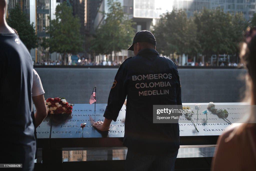 New York City Commemorates 18th Anniversary Of The 9/11 Terror Attacks : News Photo
