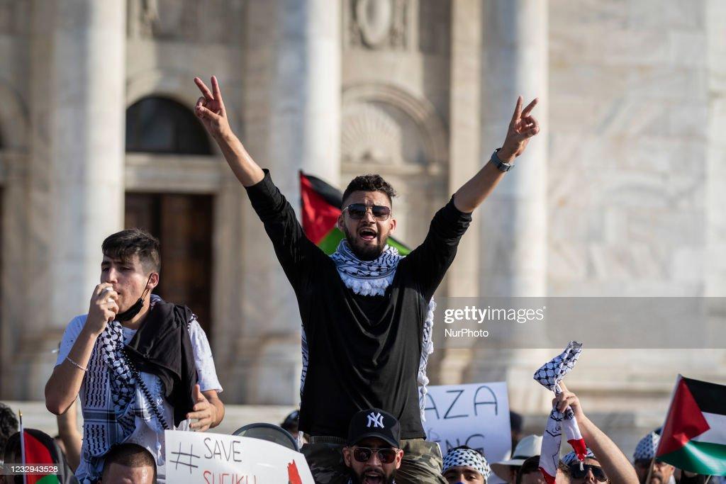 Free Palestine Rally In Puerto Rico : News Photo