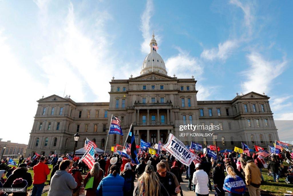 US-politics-vote-TRUMP-RALLY : News Photo