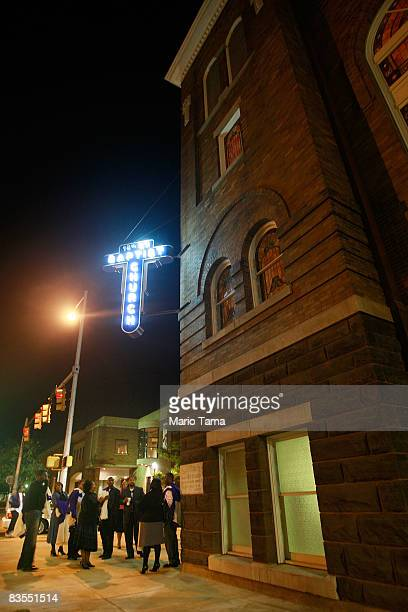People gather before a Southern Christian Leadership Conference rally at the historic Sixteenth Street Baptist Church where speakers encouraged...