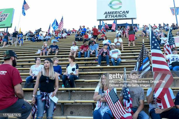 People gather during an anti-mask event at Bandimere Speedway on Tuesday, September 1, 2020. Thousands of people showed up to speak out against masks...