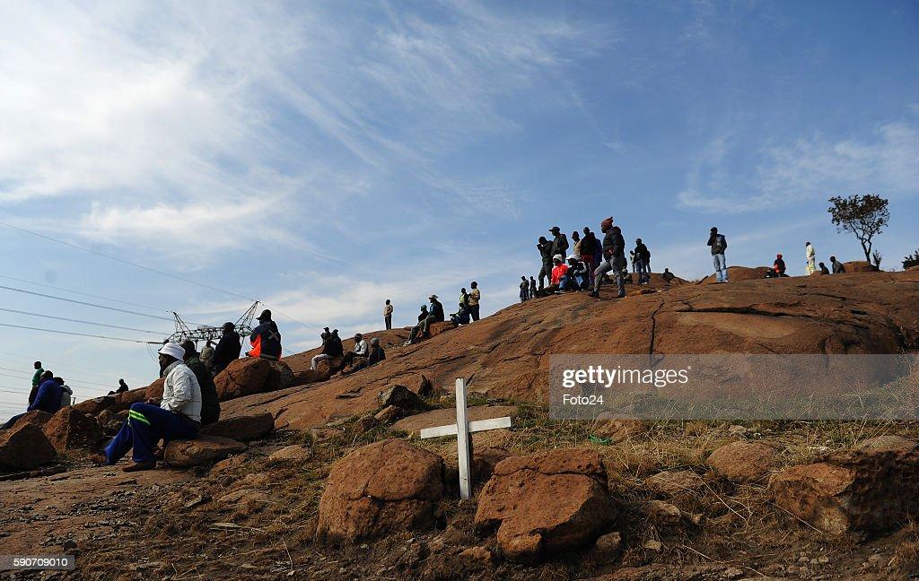 Marikana massacre 4th-year commemoration : News Photo