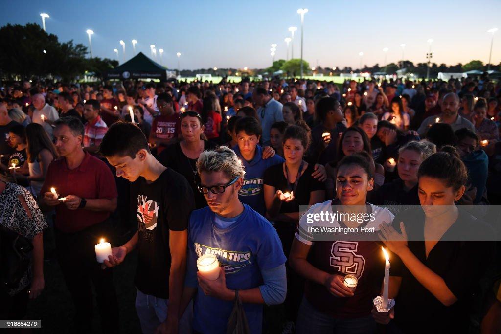 School shooting at Marjory Stoneman Douglas High School - Parkland, FL : News Photo