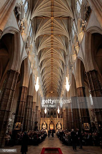 People gather for a service at the Westminster Abbey prior to the 9th Inauguration of the General Synod of the Church of England on November 23 2010...