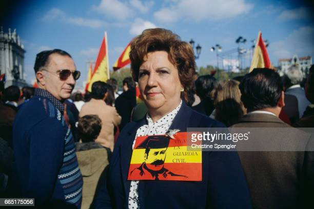 300000 people gather in a fascist demonstration to celebrate the 6th anniversary of the death of Spanish dictator General Francisco Franco and the...