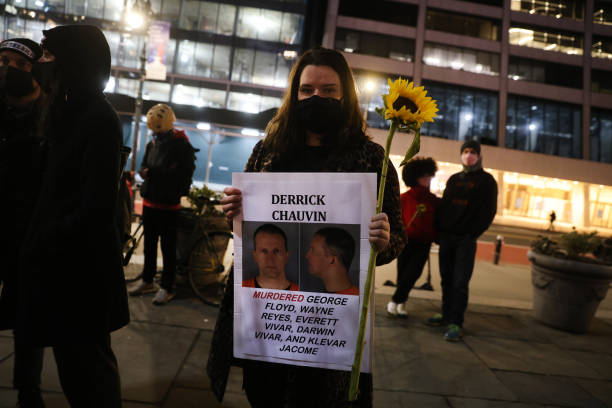 NY: Justice For George Floyd Rally Held In New York As Derek Chauvin Trial Begins