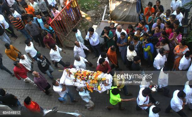 People gather in large numbers to pay their respects to the 7 friends who passed away in a car accident in Ratnagiri being carried for the last...
