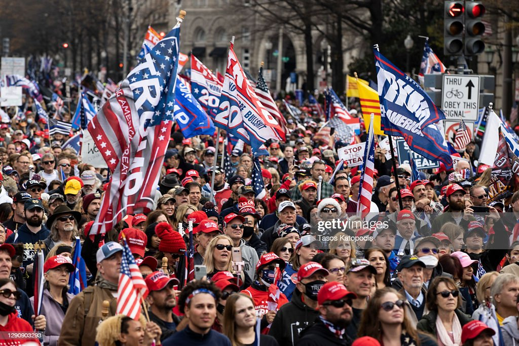 Supporters Of President Trump Gather In D.C. To Protest Election Results : News Photo