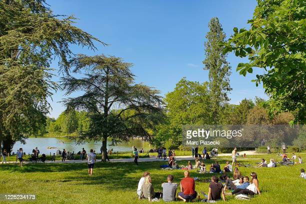 People gather in the Bois de Vincennes on May 16, 2020 in Paris, France. The coronavirus pandemic has spread to many countries across the world,...