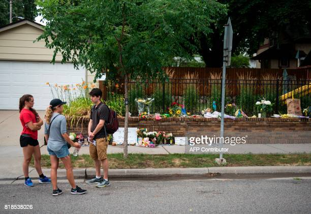 People gather near a memorial for Justine Damond on July 18 2017 in Minneapolis Minnesota Scrutiny intensified into the death of Justine Damond who...