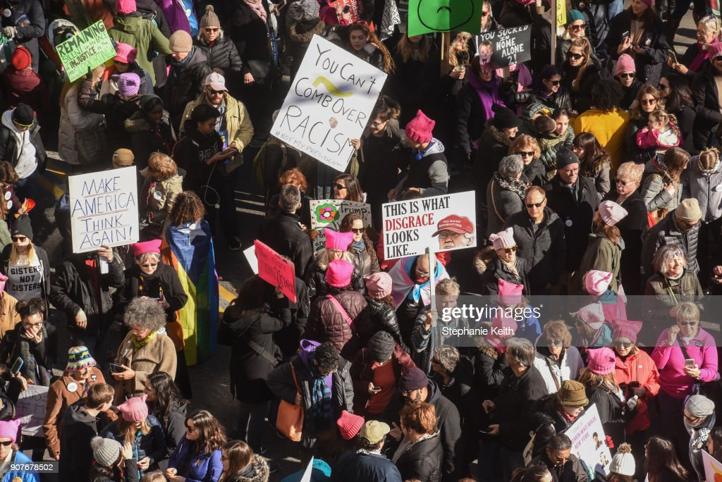Huge Crowds Rally At Women's Marches Across The U.S.