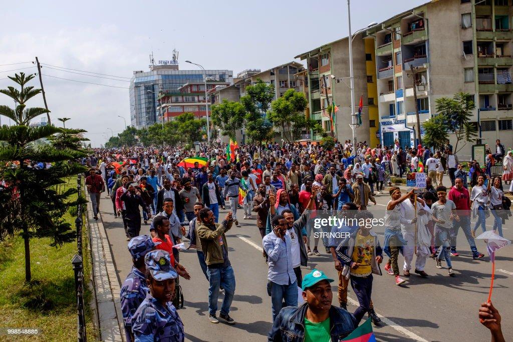 ETHIOPIA-ERITREA-POLITICS-DIPLOMACY : News Photo