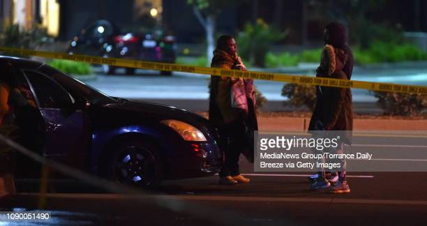 People gather outside of the Gable House Bowl following a shooting in Torrance on Saturday Jan 5 2019 Early reports are that three people have been...