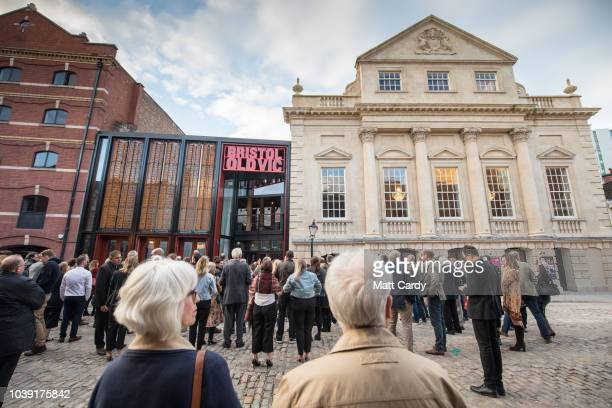 People gather outside the Bristol Old Vic at the opening of the two-year multi-million pound redevelopment of the oldest working theatre in the...