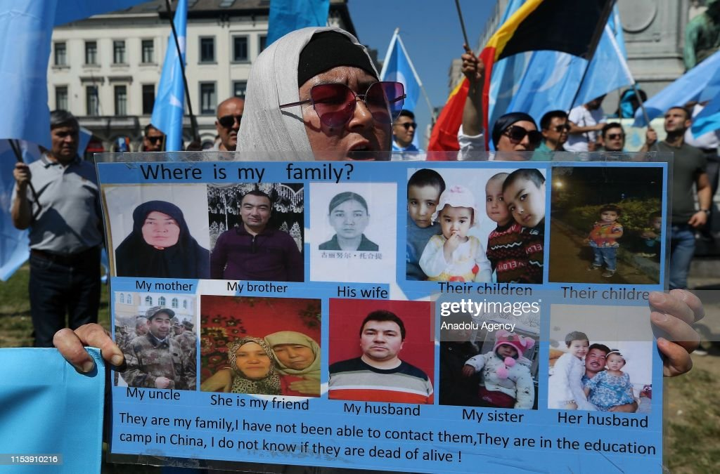 Protest against China in Brussels : ニュース写真