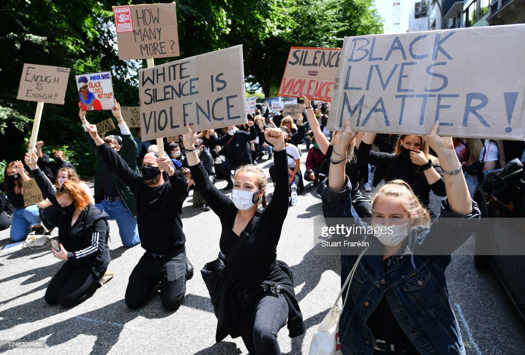 Justice For Floyd Protest In Hamburg : News Photo