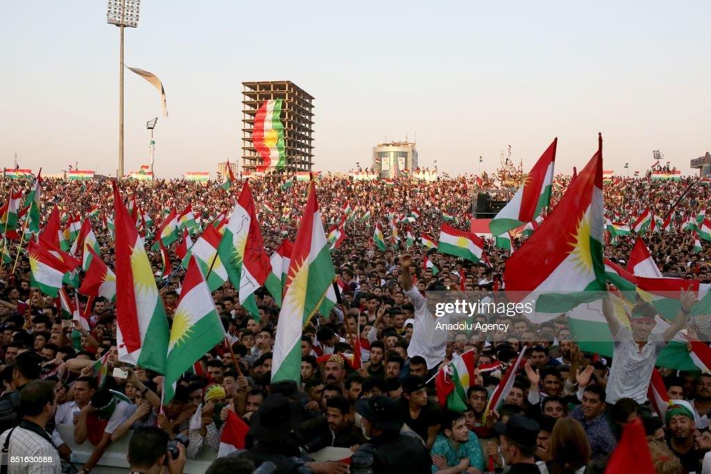 President of IKRG Masoud Barzani in Erbil : ニュース写真