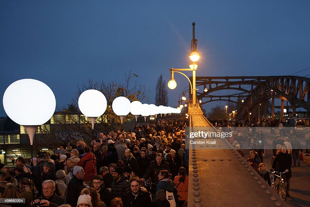 Germany Celebrates 25th Anniversary Of The Fall Of The Berlin Wall : News Photo