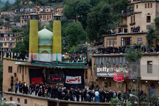 People gather to mark to commemorate the martyrdom of Imam AlHussein along with 72 loyal companions was killed at the infamous Battle of Karbala in...
