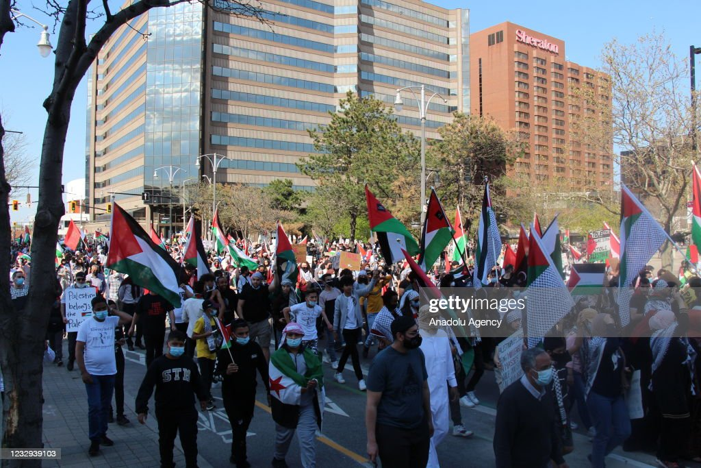 Demonstration in Canada in support of Palestinians : News Photo