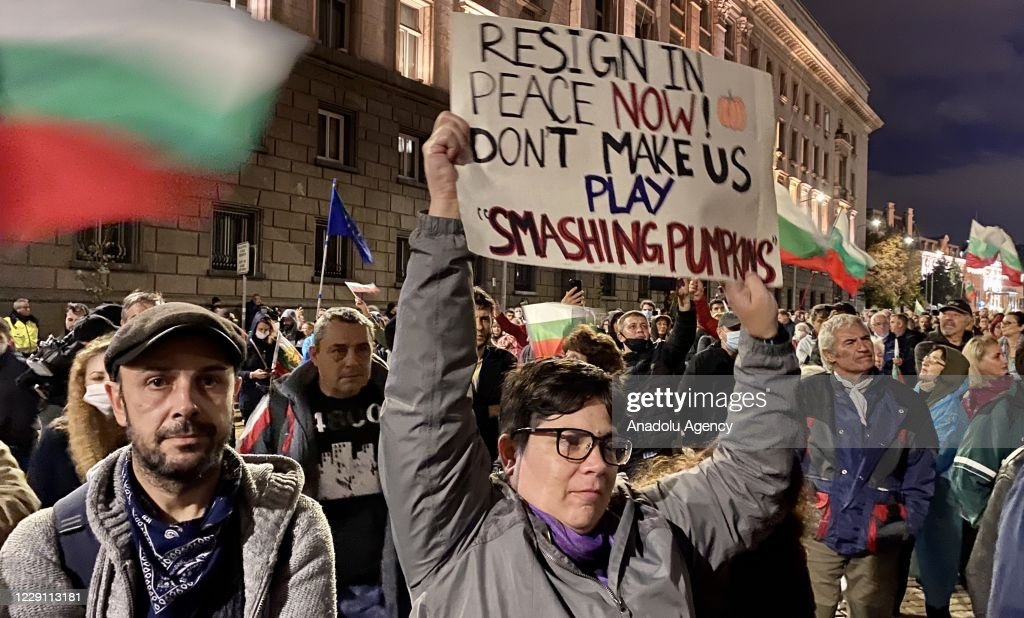 Anti-government protest in Bulgaria : Nieuwsfoto's