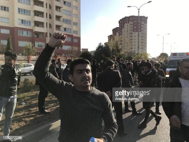 People gather to stage a protest over deteriorating economic conditions which turned violent in Sulaymaniyah, Iraq on December 11, 2020. Since Dec....